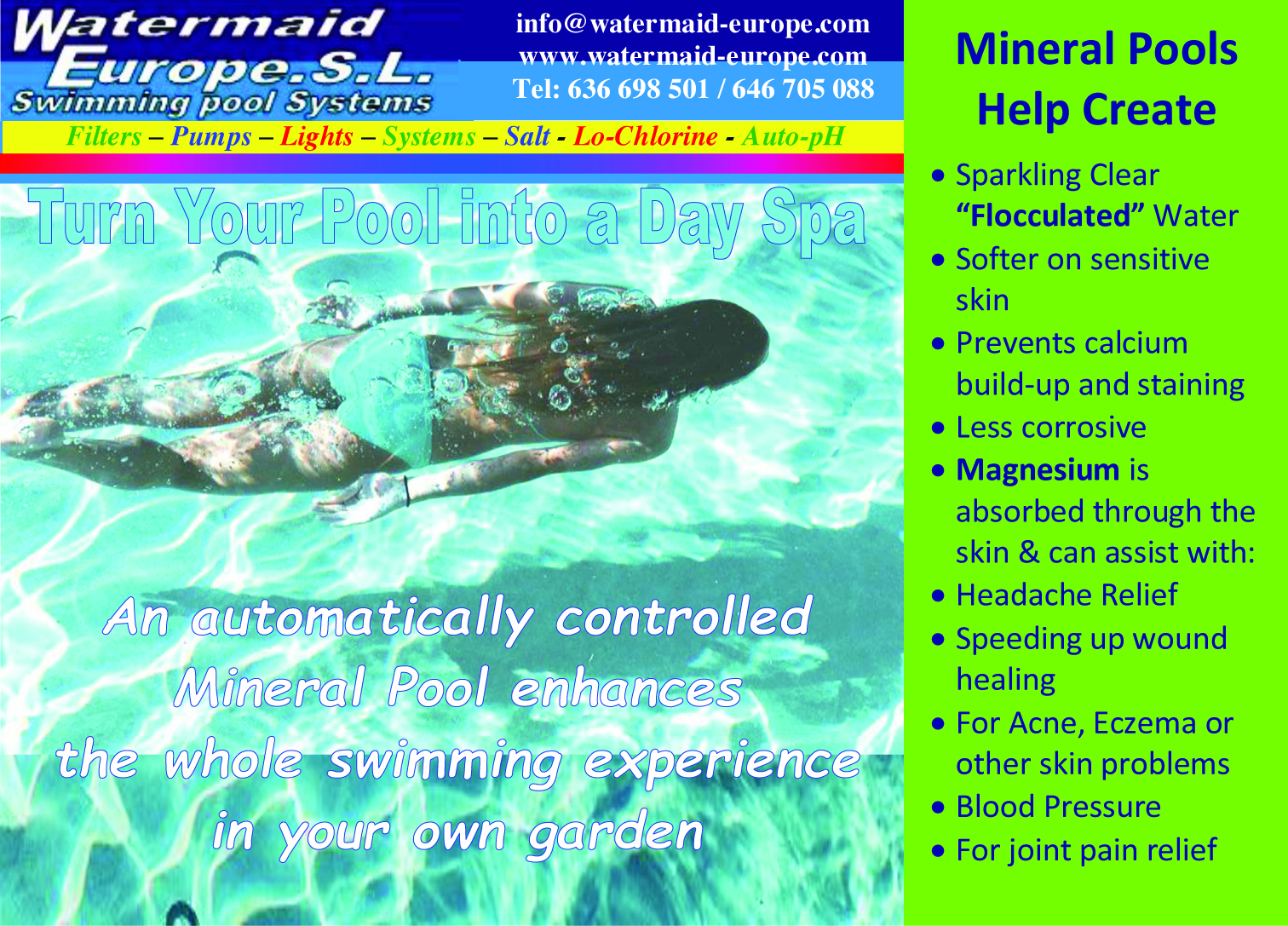 What are mineral pools exactly?   Gran Alacant Advertiser